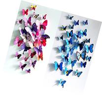Sangu 3D Colorful Blue Butterfly Removable Mural Wall