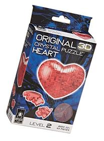 Original 3D Crystal Puzzle - Heart Red