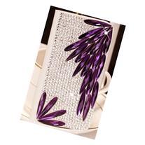 Spritech 3D Handmade Diamond Crystal with Purple Long Bling