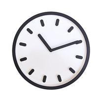 JustNile 3D Modern Contemporary Solid Color Wall Clock - 12