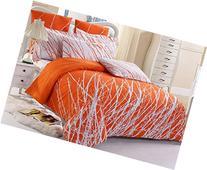 3pc Tree 100% Cotton Duvet Cover Set: Duvet Cover and Pillow