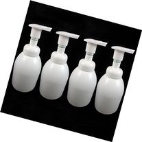 4 White Foaming Pump Refillable 16 Oz Bottle Liquid Soap