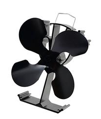 4-Blade Heat Powered Stove Fan for Wood / Log Burner/