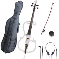 Cecilio 4/4 CECO-2WH Pearl White Electric Cello with Ebony