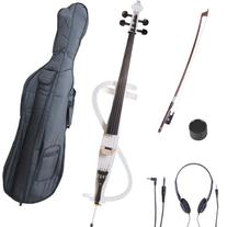 Cecilio 4/4 CECO-3WH Pearl White Electric Cello with Ebony
