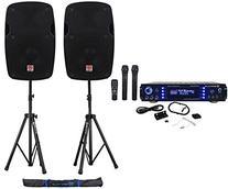 Rockville 1000w 2 Chan Karaoke Amplifier/Mixer VHF Mics+2) 8