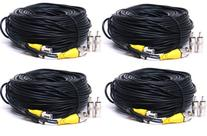 VideoSecu 4 Pack 150ft HD Video Power Security Camera Cables