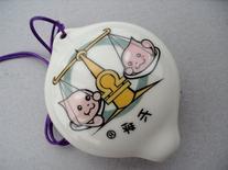 4 Holes Ceramic Ocarina w. zodiac Libra picture - Good gift