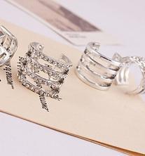TOPSTARONLINE Silver Crystal Ring and Polishing Ring