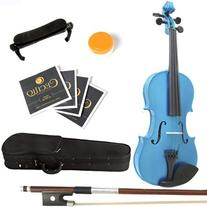 Mendini 4/4 MV-Blue Solid Wood Violin with Hard Case,