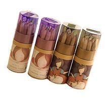 KitMax  4 Packs Cool Novelty Cute Girl Mini Colored Pencils
