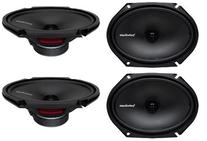 "4) New Rockford Fosgate R168X2 6x8"" 220W 2 Way Car Coaxial"