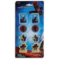 Spiderman 4 8pk Shaped Erasers On Blister Card
