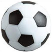 Set of 4 Soccer Ball Style Foosballs for Tornado, Dynamo or