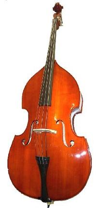 GRACE 4/4 Size Student Natural Upright Double Bass with Bag,