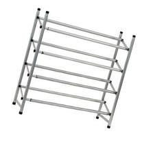 4 Tier Metal Shoe Rack Silver Large
