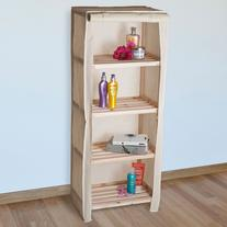 Lavish Home 4-Tier Wood Storage Shelving Rack with Removable