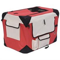 Pawhut 40 Soft Sided Folding Crate Pet Carrier