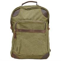 Gootium 40589AMG Canvas Genuine Leather BagPack, Army Green