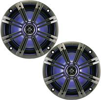 "New 41KM84LCW 8"" 300 Watt 4-Ohm LED Marine Audio Coaxial"