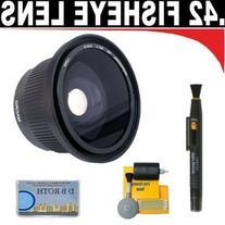 .42x HD Super Wide Angle Panoramic Macro Fisheye Lens +