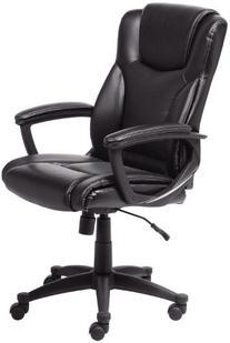 Serta 43672 Bonded Leather Executive Chair, Black