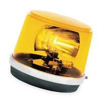 FEDERAL SIGNAL 443112-02 Revolving Warning Light, Amber,