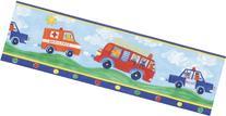 Brewster 443B97633  Blue Fire Truck Border, Blue