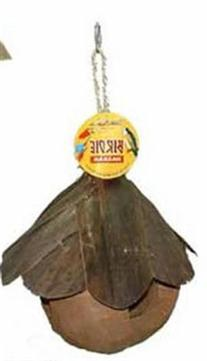 Pets Choice 463-00148 Coco Nest with Shingle Roof for Birds