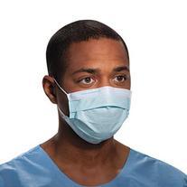 Halyard Tecnol Procedure Mask/Pleat/Earloops, Blue, 50 Count