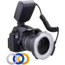 Polaroid PLMRFS 48 Macro LED Ring Flash with 4 Diffusers for