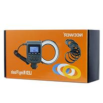 Neewer 48 Macro LED Ring Flash Bundle with LCD Display Power