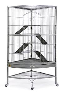Prevue 490 Pet Products Corner Ferret Cage, Black Hammertone