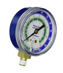 "Yellow Jacket 49002 2-1/2"" Gauge , Blue Compound, 30"", 0-120"