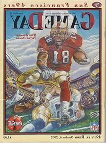 GameDay 49ers vs Rams NFL Program October 6, 2002 Terrel