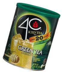 4C Iced Tea Mix Green Tea Antioxidant, , 53-Ounce Canisters