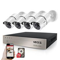 ZOSI 1080P 4CH DVR with 4X 1080P HD Outdoor Home Security
