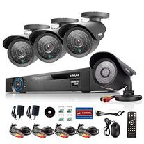 ANNKE 4-Channel AHD 1080N CCTV DVR Recorder and  HD 1.3MP