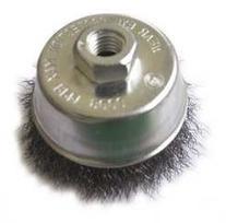 Westward 4EDT2 Cup Brush, 3 In D, Steel, 0.0140 Wire