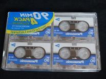 4x4 Packs Panasonic MC90 - 90 Minute Micro Mini Cassette