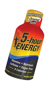 Regular Strength 5-hour ENERGY Shots – Orange Flavor –