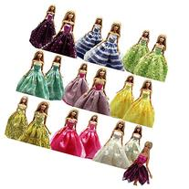 BARWA 5 Pcs Handmade Doll Clothes Europe CE-EN71 Certified Wedding Party Dresses for 11.5 inch Dolls
