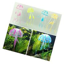 5 Pcs of Glowing Effect Artificial Jellyfish Fish Tank