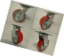 "5"" X 2"" Swivel Casters Heavy Duty Polyurethane Wheel on"