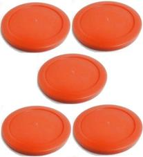 5 Air Table Hockey Pucks 2.5 Inch Red