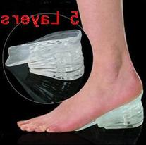 5 Layers Taller Insole Silicone Gel Inserts Lift Shoe Pads