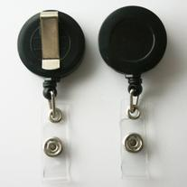 5 Retractable Reel ID Badge Key Card Name Tag Holders with