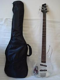 Professional 5 String Clear Body Lucite Electric Bass Guitar