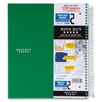 Five Star 5-Subject Wirebound Notebook, College Rule, 200
