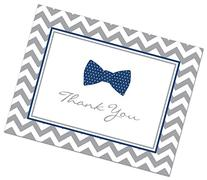 50 Cnt Little Man Bow Tie Baby Shower Thank You Cards